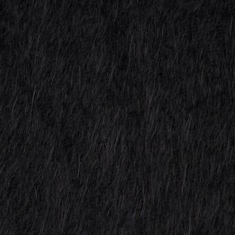 アンゴラ×無地(ブラック)×シャギーニット