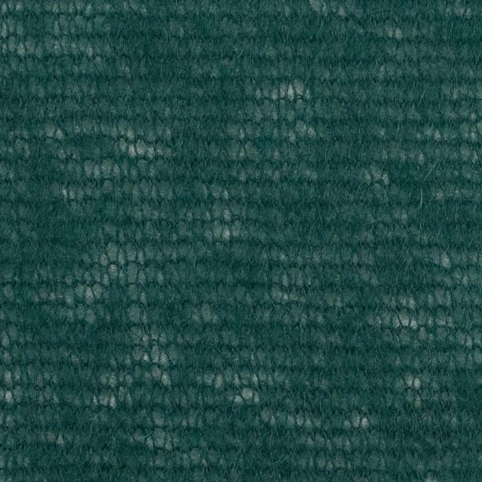 アクリル&ウール×無地(モスグリーン)×メッシュニット イメージ1