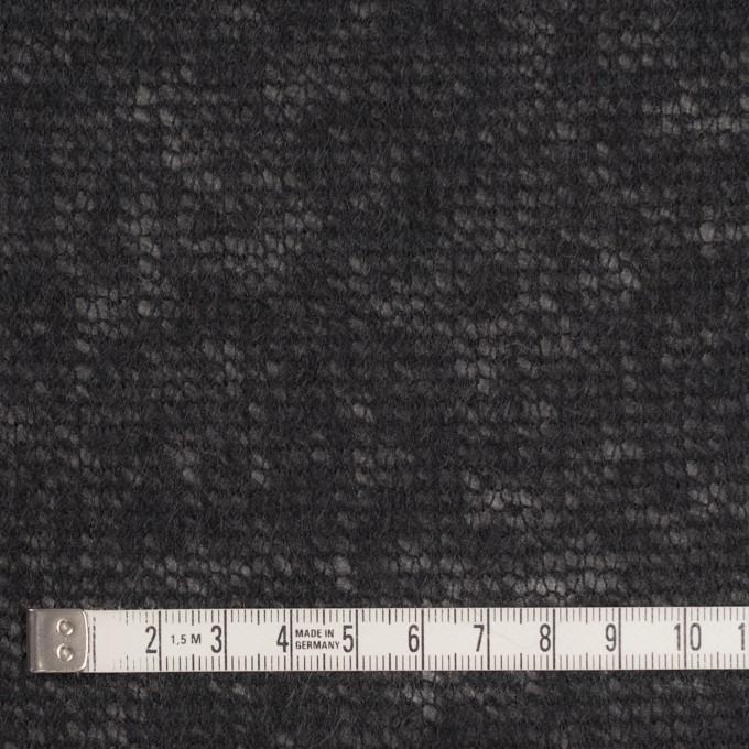 アクリル&ウール×無地(ブラック)×メッシュニット イメージ4