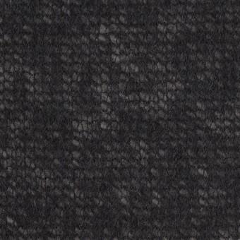 アクリル&ウール×無地(ブラック)×メッシュニット