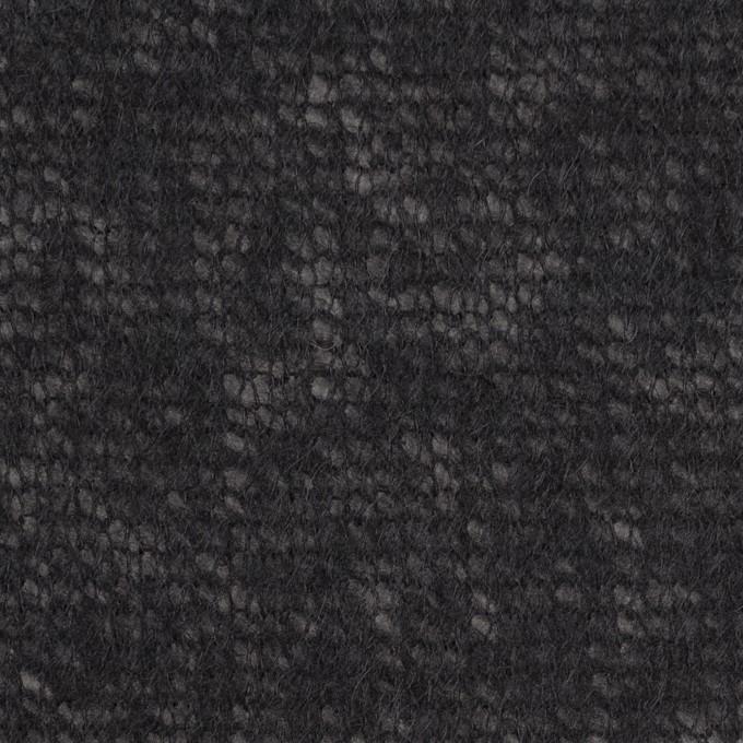 アクリル&ウール×無地(ブラック)×メッシュニット イメージ1
