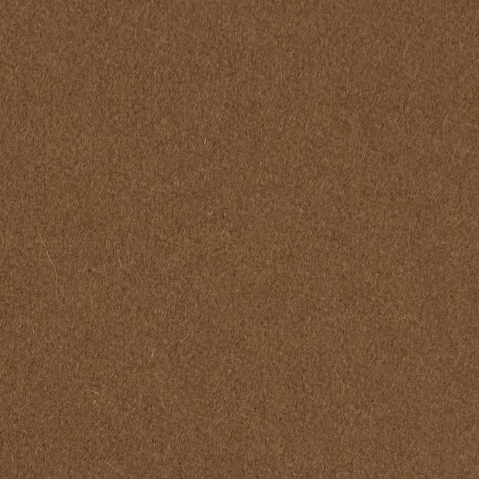 ウール×無地(カーキブラウン)×フラノ(フランネル) イメージ1