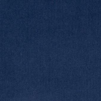 コットン&ポリウレタン×無地(インクブルー)×細コーデュロイ・ストレッチ