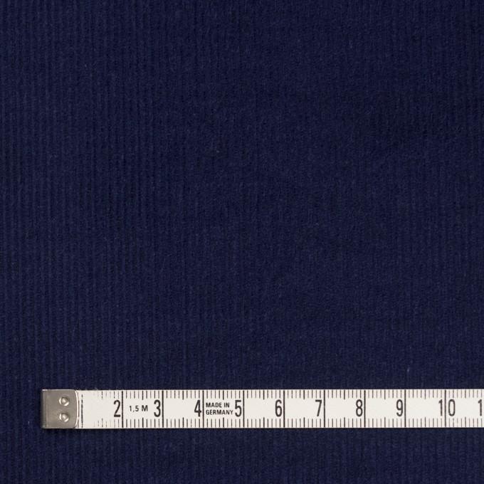 コットン&ポリエステル×無地(ネイビー)×細コーデュロイ イメージ4