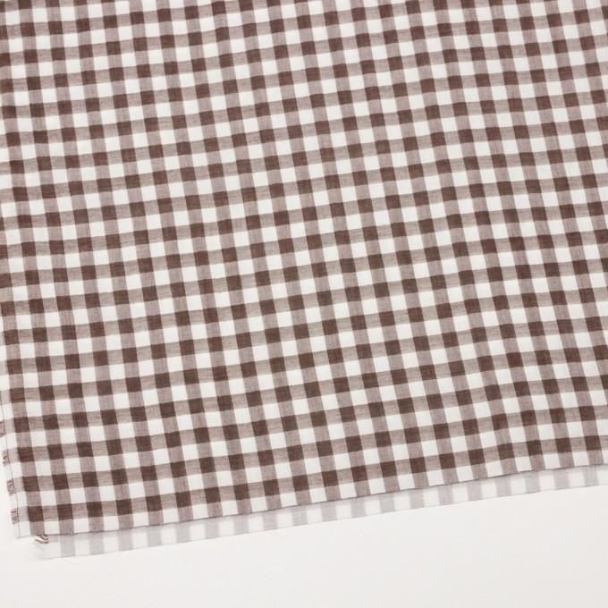コットン×チェック(ブラウン)×Wガーゼ_全5色 イメージ2