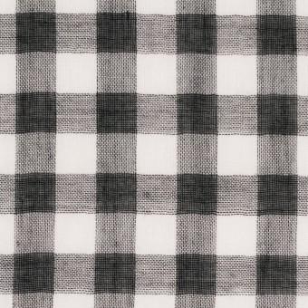 コットン×チェック(ブラック)×Wガーゼ_全5色