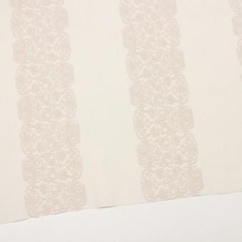 コットン×幾何学模様(クリーム&ウォームベージュ)×かわり織刺繍_全3色 サムネイル2