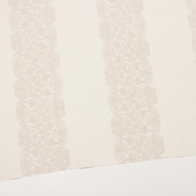 コットン×幾何学模様(クリーム&ウォームベージュ)×かわり織刺繍_全3色 イメージ2