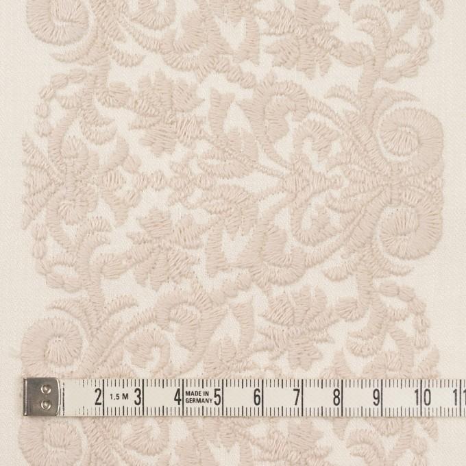 コットン×幾何学模様(クリーム&ウォームベージュ)×かわり織刺繍_全3色 イメージ4