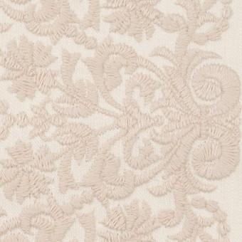 コットン×幾何学模様(クリーム&ウォームベージュ)×かわり織刺繍_全3色 サムネイル1