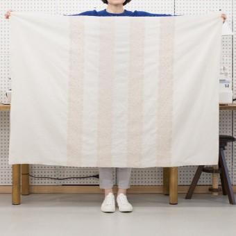 コットン×幾何学模様(クリーム&ウォームベージュ)×かわり織刺繍_全3色 サムネイル6