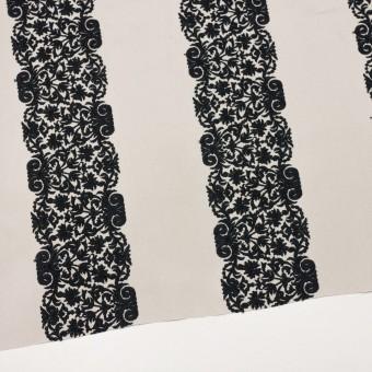 コットン×幾何学模様(アイボリー&ブラック)×かわり織刺繍_全3色 サムネイル2