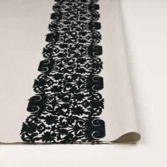 コットン×幾何学模様(アイボリー&ブラック)×かわり織刺繍_全3色 サムネイル3