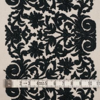 コットン×幾何学模様(アイボリー&ブラック)×かわり織刺繍_全3色 サムネイル4