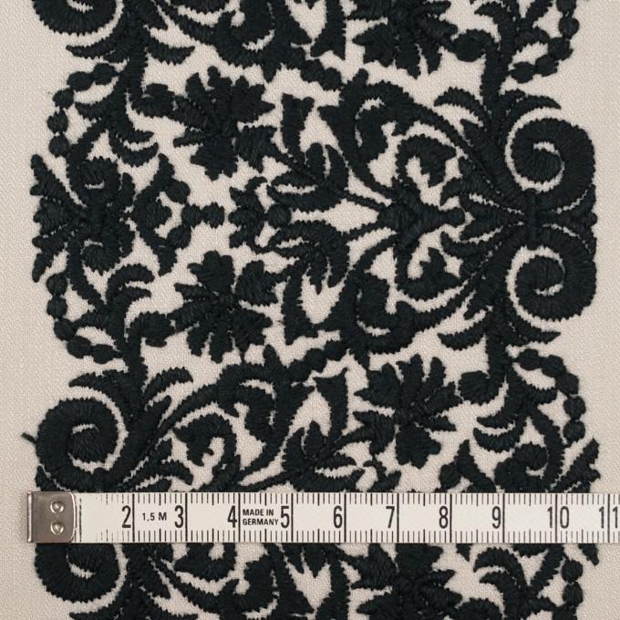 コットン×幾何学模様(アイボリー&ブラック)×かわり織刺繍_全3色 イメージ4
