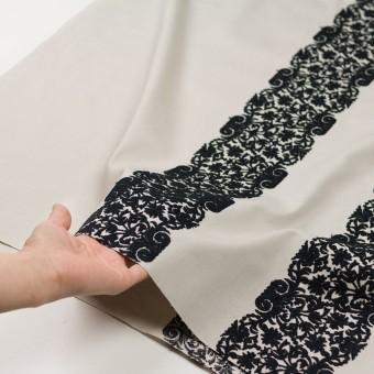 コットン×幾何学模様(アイボリー&ブラック)×かわり織刺繍_全3色 サムネイル5