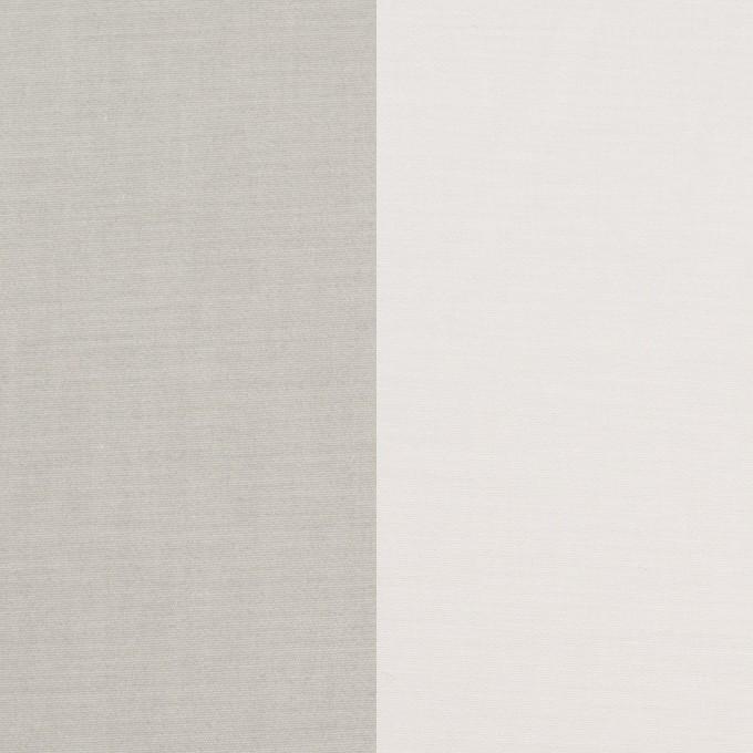コットン&ポリウレタン×無地(ライトグレー&オフホワイト)×ブロードストレッチ(ボンディング)_全4色 イメージ1