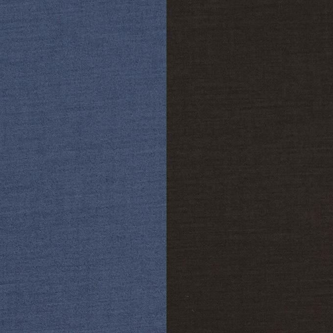 コットン&ポリウレタン×無地(アイアンブルー&チャコール)×ブロードストレッチ(ボンディング)_全4色 イメージ1