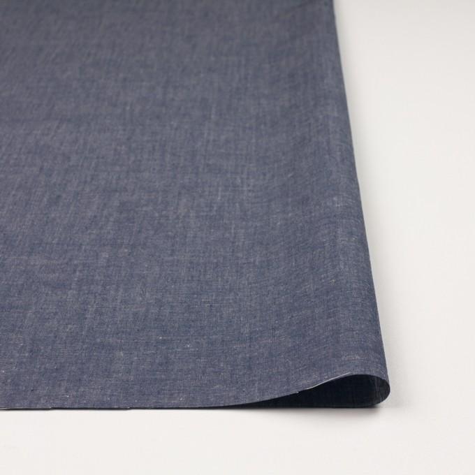 コットン&テンセル混×無地(ネイビー)×薄ダンガリー_全4色 イメージ3