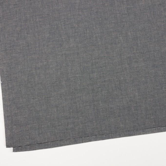 コットン&テンセル混×無地(チャコール)×薄ダンガリー_全4色 イメージ2