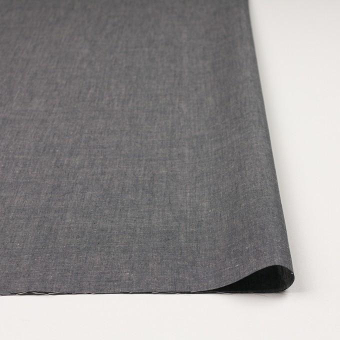 コットン&テンセル混×無地(チャコール)×薄ダンガリー_全4色 イメージ3