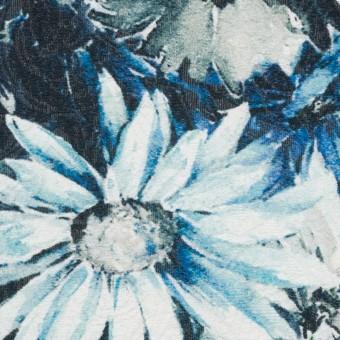 コットン&ナイロン×フラワー(サックスブルー)×ジャガード_全2色_イタリア製