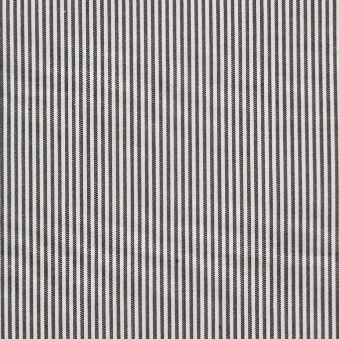 コットン×ストライプ(チャコール)×ローン イメージ1