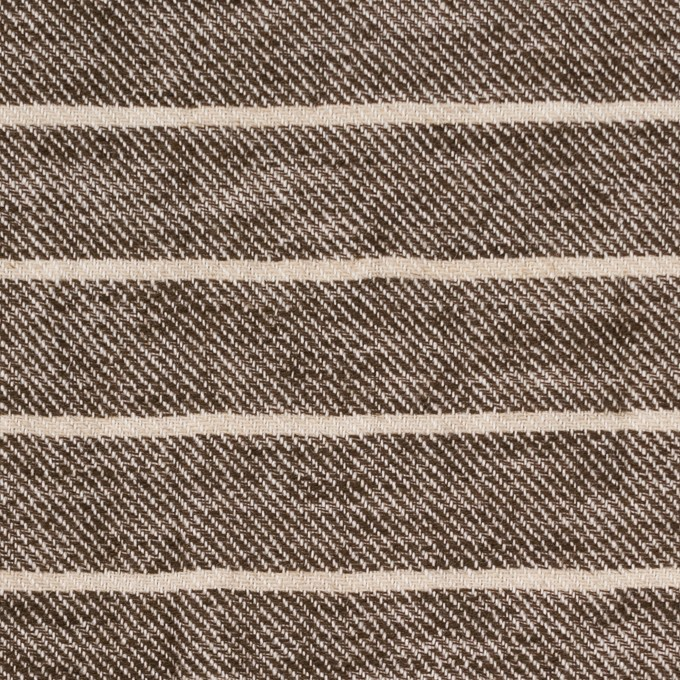 リネン&コットン×ボーダー(ブラウン)×サージ_全2色 イメージ1