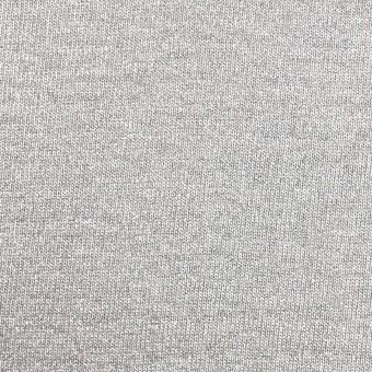 コットン×無地(シルバー)×天竺ニット(ラメ箔プリント)