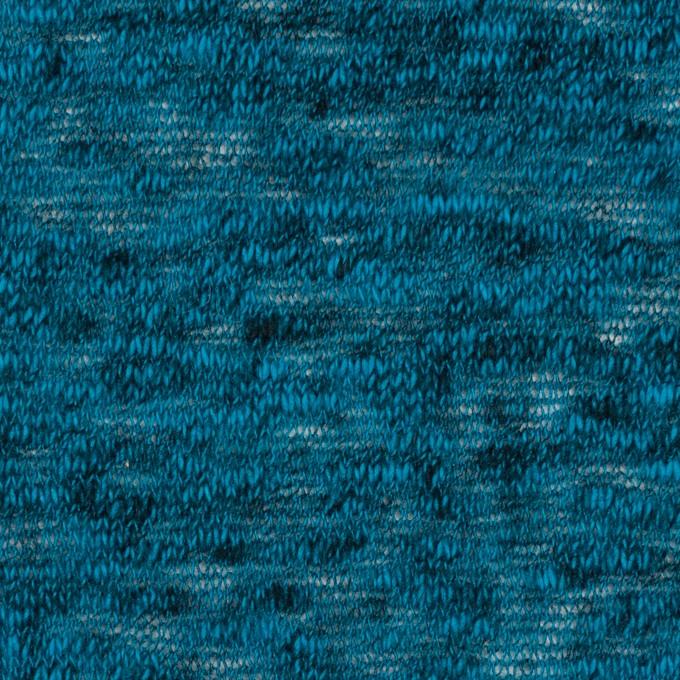 コットン×無地(ターコイズブルー)×メッシュニット イメージ1