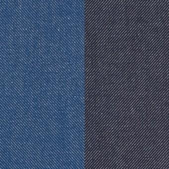 コットン&ポリウレタン×無地(ブルー&インディゴ)×Wフェイスデニムストレッチ