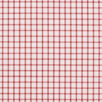 コットン×チェック(レッド)×ブロード_全2色