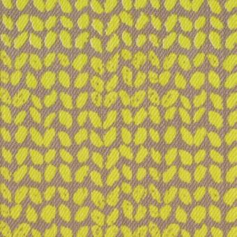 コットン&ポリウレタン×幾何学模様(ライム&カーキベージュ)×チノクロス・ストレッチ