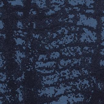 コットン&ポリエステル×幾何学模様(ブルーグレー)×ジャガード_全2色