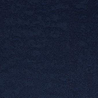 コットン&ポリエステル×幾何学模様(ネイビー)×ジャガード_全2色