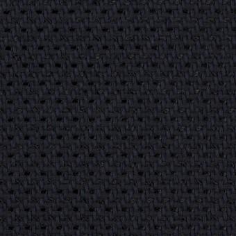 コットン&ナイロン×無地(ダークネイビー)×斜子織_イタリア製
