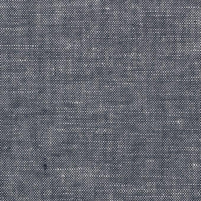 コットン&リネン×無地(ダークネイビー)×ダンガリー イメージ1