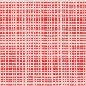 コットン&レーヨン×ミックス(レッド&オフホワイト)×斜子織_イタリア製