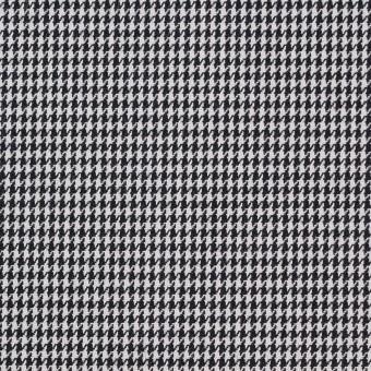コットン&ポリエステル×チェック(ブラック&ホワイト)×千鳥格子&ローン(ボンディング)