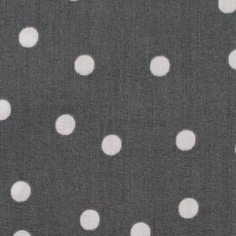 コットン×水玉(スチールグレー&ライトグレー)×ローン_全2色