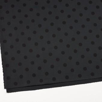 コットン&ポリウレタン×水玉(チャコール&ブラック)×チノクロス・ストレッチ_全2色 サムネイル2