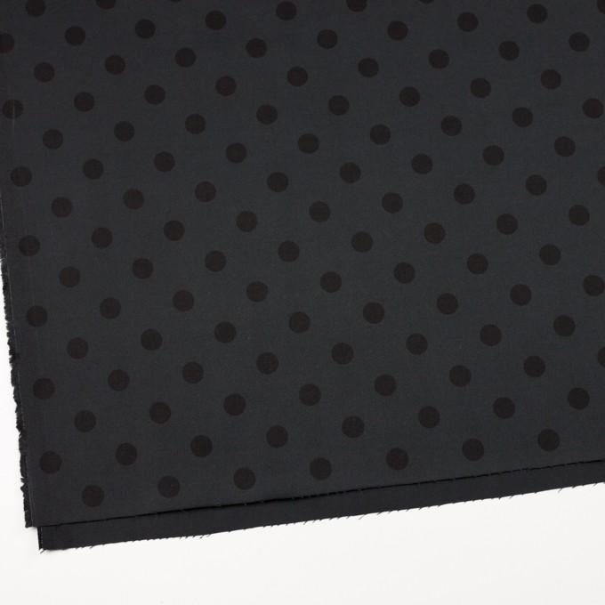 コットン&ポリウレタン×水玉(チャコール&ブラック)×チノクロス・ストレッチ_全2色 イメージ2