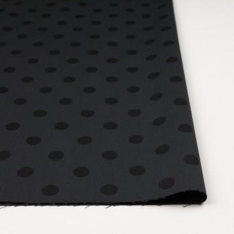 コットン&ポリウレタン×水玉(チャコール&ブラック)×チノクロス・ストレッチ_全2色 サムネイル3