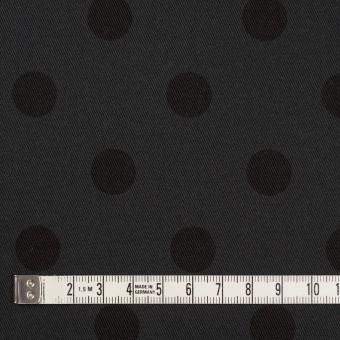 コットン&ポリウレタン×水玉(チャコール&ブラック)×チノクロス・ストレッチ_全2色 サムネイル4