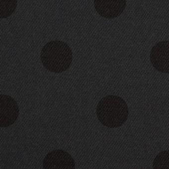 コットン&ポリウレタン×水玉(チャコール&ブラック)×チノクロス・ストレッチ_全2色