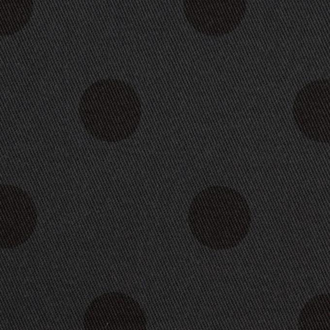 コットン&ポリウレタン×水玉(チャコール&ブラック)×チノクロス・ストレッチ_全2色 イメージ1