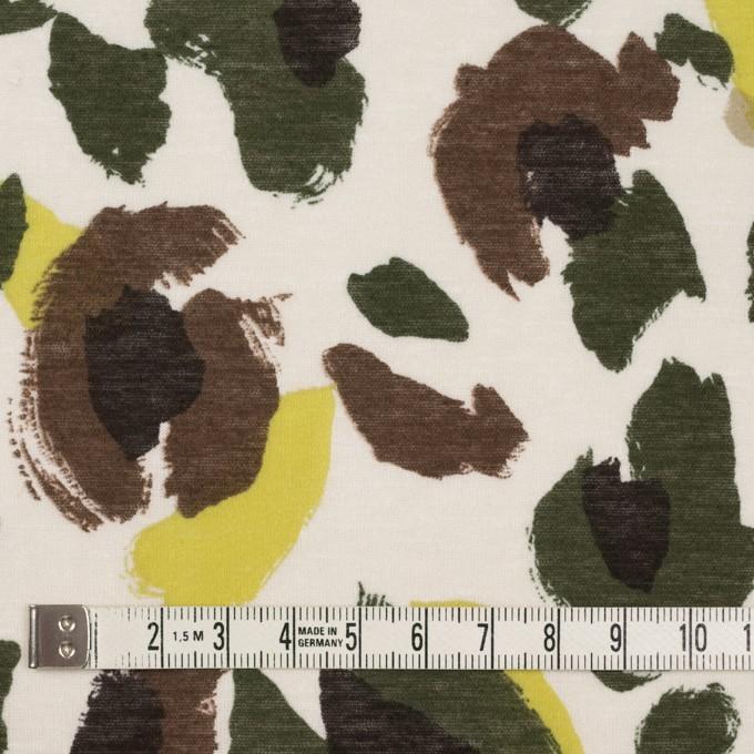 コットン×幾何学模様(イエロー&カーキグリーン)×天竺ニット_全2色 イメージ4