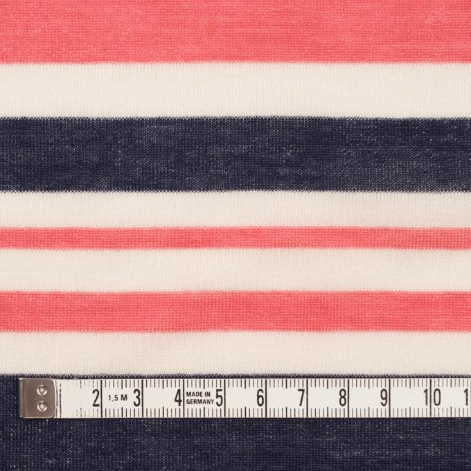 コットン&モダール×ボーダー(スカーレット&ネイビー)×天竺ニット_全2色 イメージ4