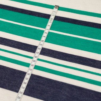 コットン&モダール×ボーダー(エメラルドグリーン&ネイビー)×天竺ニット_全2色 サムネイル5