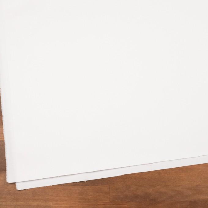 コットン&ポリウレタン×無地(ホワイト)×サテンストレッチ イメージ2